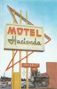 I miss real signage. Old Neon Signs, Vintage Neon Signs, Old Signs, Posters Vintage, Vintage Postcards, Station Essence, Retro Signage, Roadside Signs, Cafe Sign