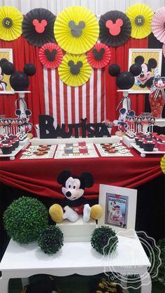 MICKEY MOUSSE - 1st Birthday - Bautista Birthday Party Ideas | Photo 1 of 7