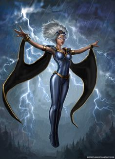 If i would have a super power I would like to control the weather and elements, much like Storm from X Men. Storm Xmen, Storm Marvel, Storm Comic, Marvel Comics, Marvel Heroes, Man Character, Comic Character, Comic Book Characters, Marvel Characters