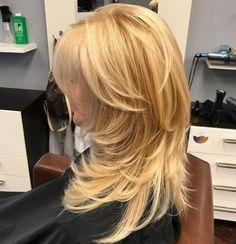 Long Layered Blonde Hairstyle Long Shag Hairstyles, Long Shag Haircut, Straight Hairstyles, Shaggy Hair, Long Haircuts, Trendy Haircuts, Modern Hairstyles, Hairstyles Haircuts, Layered Hair