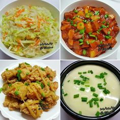 Stir-fry Cabbage with vermincelli (包菜炒冬粉)  Luncheon meat and potato coat with tomato sauce (番茄酱炒午餐肉和土豆) Crispy fried chicken with mustard (炸鸡块和芥末) Stemed egg (蒸蛋)  . . .  #sgfood #sg #dinnertime #dinner #homecooked #homemade #cabbage  #potato #chicken  #vermincelli  #egg  #vegetables  #veggies #tomatosauce #luncheonmeat #mustard  #carrot #family #loveones #tomato #happy #familymeal #cabbage