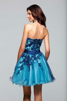 Clarisse 2012 Homecoming 2013 Prom Ultramarine Ocean Blue Short Strapless Party Dress 2027 | Promgirl.net