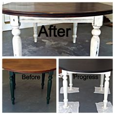 I refurbed this 20 year old 6-seater oval table with a hand-sanded/hand-crafted ultra distressed antique finish...farmhouse fabulous!