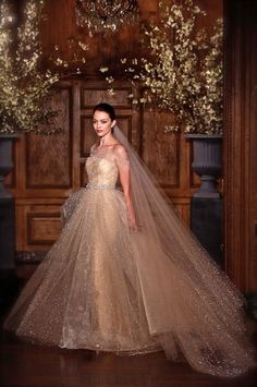 sparkling ball gown gold wedding dress shoulder-off