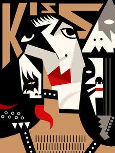 Kiss / rock band / by Francisco Javier Olea Kiss World, Kiss Rock Bands, Happy As A Clam, John Prine, Flat Earth Society, Kiss Art, Star Children, Rock N Roll, Graphic Art