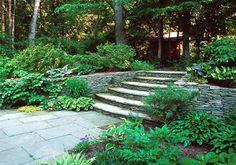 beautiful stone steps & walls