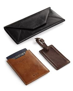 Classic Leather Travel Accessories at Horchow.