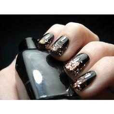 Glitter Nail Tips #colourfulnails