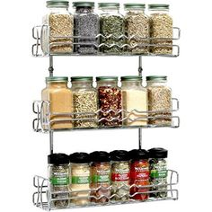12 Magnetic Spice Tins and 113 Spice Labels by Talented Kitchen. Round Storage Spice Rack Set of 12, Clear Top Lid with Sift or Pour. Includes 113 PVC Spice Sticker Set. Magnetic On Refrigerator