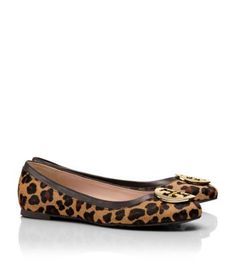 Tory Burch REVA PRINTED BALLET FLAT - saw someone wearing these today and they were adorable!