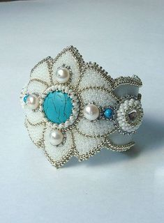 Bracelet with pearls and silver. Catherine Deomidova. Beautiful
