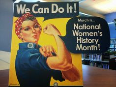Literary Hoots: National Women's History Month Library Display