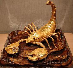 Cake Art. scorpion.