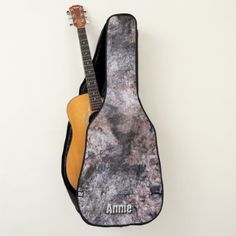Geology Pinkish Rock Texture with Custom Name Guitar Case - diy cyo personalize design idea new special