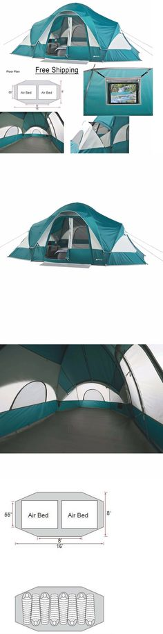 Tents 179010 Large Family Tent 8 Person 2 Room Outdoor C&ing Instant Cabin Hiking Shelter  sc 1 st  Pinterest & Tents 179010: Ozark Trail 10 Person 2 Room Instant Cabin Family ...