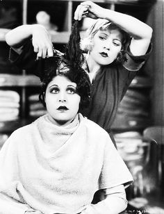 Marie Prevost cuts Lina Basquette's hair in The Godless Girl (1928)