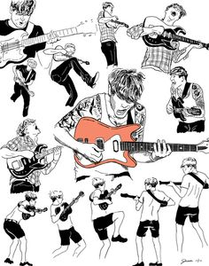 some figure studies of John Dwyer of Thee Oh Sees