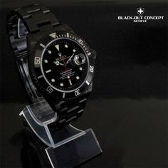 black rolex submariner | Black Rolex Submariner DLC/PVD Custom Dial