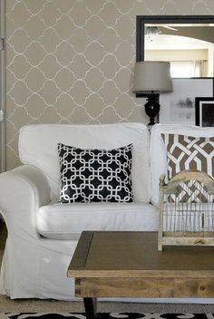 mix up your patterns to make neutrals interesting