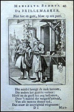 De Brillemaaker|Graphic         : Copper engraving From             :  Spiegel van het Menselyk Bedryf Size Picture  :  10 x 15 cm   Year              :  + 1767 Sculp & Del.  : Jan en Kasper Luiken Uitgev.          :  by Erven van F.Houttuyn te Amsterdam, 1767 Originele Kopergravures der Beroepen. | eBay