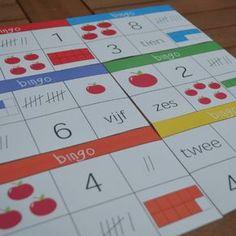 getalbeelden oefenen bingo spel Numicon, Bingo, Happy Kids, Circuit, Homeschool, Teacher, Letters, Math, Games