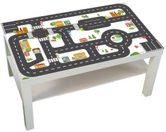 "Kids room: Furniture sticker ""Small City"" for IKEA LACK (1M-ST01-04) - Play table, play mat for toy cars - Furniture not included by Limmaland on Etsy https://www.etsy.com/listing/255243909/kids-room-furniture-sticker-small-city"