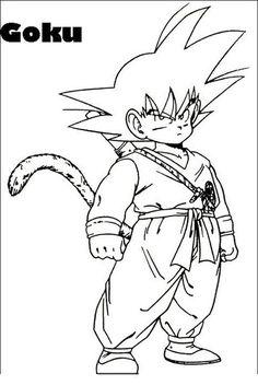 Goku DRAGON BALL Z . Letter C Coloring Pages, Minion Coloring Pages, Easy Coloring Pages, Coloring Books, Dragon Ball Z Shirt, Kid Goku, Goku Super, Super Saiyan, Character Design References
