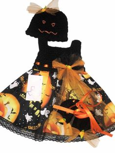 Mic Crafts Handmade Crochet Baby Costume Halloween 3pc | eBay