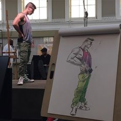 I like making students pose when the model goes on break lets them get a feel for what it's like let's the  extroverts blow off some energy and gives the model a break. by georgedrawing
