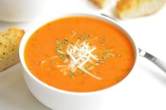 Healthy Soup Recipes, Vegetarian Recipes, Cooking Recipes, The Best Tomato Basil Soup Recipe, Tomato Soup, Cauliflower Soup, Homemade Soup, Soup And Salad, Soups And Stews