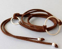 INFINITY Hammered SILVER Circle Wrap Bracelet  Adjustable