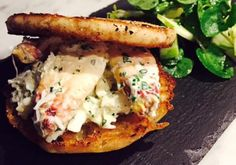 Thomas'® Original English Muffin with Dungeness Crab, Green Goddess Dressing and Green Apple Salad by Chef John Sandstorm from Seattle, WA