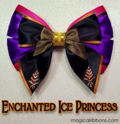 Enchanted Ice Princess Bow $11.00 – $13.00 Ice Princess, You Rock, Enchanted, Purple, Pink, Bows, Hand Painted, Mouse Ears, Ribbons