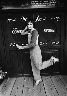 Actor & comedian Robin Williams outside the Comedy Store, 1978 -