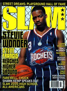 SLAM 44: Houston Rocket Stevie Francis appeared on the cover of the 44th issue of SLAM Magazine (2000).