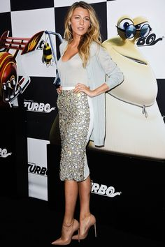 Blake Lively attends the Turbo premiere July 9, 2013, in New York City   - Cosmopolitan.com