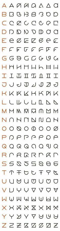 An Interview with Rolando G. Alcantara, Typographic Innovator like the second column font alphabet Alphabet Code, Alphabet Symbols, Typography Alphabet, Typography Fonts, Typo Logo, Alphabet Letters, Letter Art, Schrift Design, Logo Design