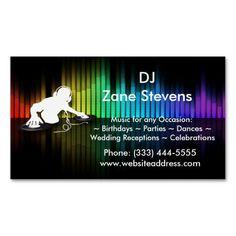 DJ Spinning Vinyl Business Card Magnet Dj Business Cards, Magnetic Business Cards, Business Card Design, Professional Dj, Professional Business Cards, Dj Sound, Sound Bars, Standard Business Card Size, Stick It Out
