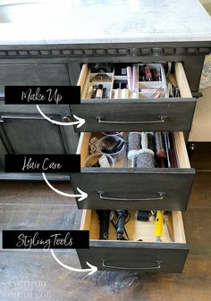 How to Quickly Organize Bathroom Drawers - Sanctuary Home Decor
