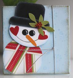 Geschenkverpackung Schneemann