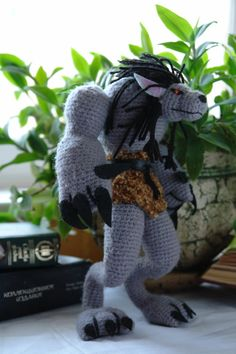 World of Warcraft crochet pattern for Worgen toy by tinyAlchemy, $4.99