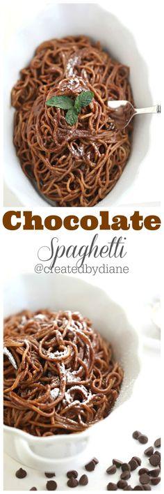 Chocolate Spaghetti Recipe perfect comfort food @createdbydiane