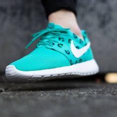 5c130145dd8b Womens Nike Roshe One Print Teal White Shoe WOMENS Nike Roshe One Print  599432 411