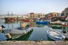 Venetian harbor of Rethymno Crete, Old Town, Venetian, Old City