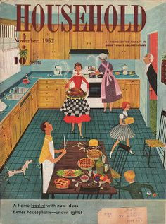 Household magazine, November Illustration by Lorraine Fox Vintage Advertisements, Vintage Ads, Vintage Prints, Vintage Images, Vintage Posters, Vintage Apron, Vintage Graphic, Retro Ads, Estilo Pin Up