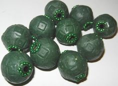 10 Qty Large 1 inch Clay Beads base for by jcraft4you on Etsy