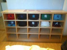 A Custom Made Cap Shelf From New Era Fan Fredric T. I Like This