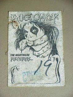 Alice Cooper The Nightmare Returns Crew Back Stage Pass