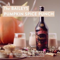 Reach for limited edition Baileys Pumpkin Spice this fall. This seasonal liqueur. - Reach for limited edition Baileys Pumpkin Spice this fall. This seasonal liqueur combines the fall - Thanksgiving Drinks, Fall Drinks, Holiday Drinks, Party Drinks, Cocktail Drinks, Alcoholic Drinks, Holiday Recipes, Cocktails, Beverages