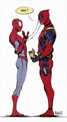 Spideypool, Deadpool X Spiderman, Parker Spiderman, Marvel Dc Comics, Marvel Avengers, Venom Comics, Marvel Jokes, Loki, Casa Anime